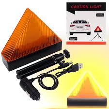 Led Caution Lights Car Triangle Yellow Flashing Strobe Light Led Road Safety