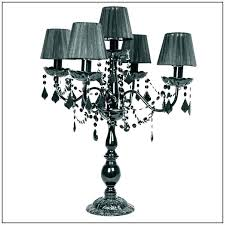 black and crystal chandelier table lamp with crystals canada