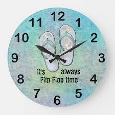 it s always flip flop time large clock