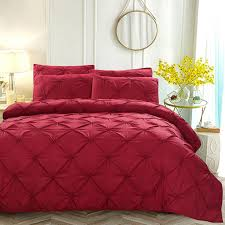 2019 luxury duvet cover set red white black grey pinch pleat 2 twin queen king size home hotel bedding sets no sheet from raymonu 48 14 dhgate com