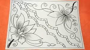 23 gambar sketsa yang bisa anda. Cara Menggambar Bunga Motif Batik 35 Youtube