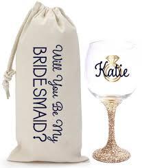 glitter wine glass wine bag set