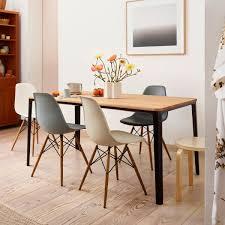 Vitra Promotion Set Eames Plastic Side Chair Dsw Set Of 4 Maple Yellowish White Felt Glider White