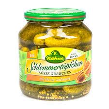 Корнишоны <b>сладкие</b> медово-пряные, <b>Kuhne</b>, 530 г, Германия ...