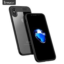 apple iphone 100. 100% original new ipaky soft frame+clear acrylic covers for apple iphone x cases iphone 100