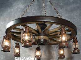 42 hanging lantern reion wagon wheel chandelier