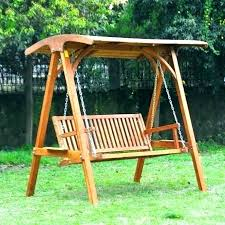 wooden swing canopy chair outdoor with best of