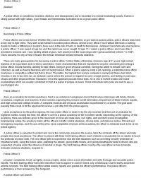 police officer essay docoments ojazlink police officer essay resume examples military