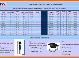 Cap And Gown Measurement Chart Jostens Graduation Gown Size Chart Timeless Jostens Cap And