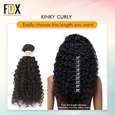 Curly Hair Length Chart Fdx Brazilian Kinky Curly Hair With Closure Remy Human Hair