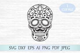 This gift card holder was one of my first designs and has been downloaded hundreds of times. Sugar Skull Svg Day Of The Dead Svg Graphic By Magicartlab Creative Fabrica Candy Skulls Skull Silhouette Christmas Svg