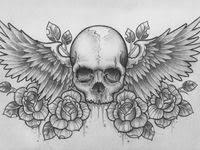 <b>Skull</b> With <b>Wings</b> Tattoo Designs