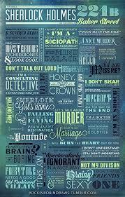 Sherlock Holmes Quotes Gorgeous Amazon Sherlock Holmes Motivatioinal Quotes Poster Print 48x48