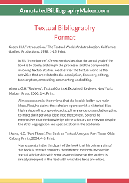 Annotated Bibliography Maker Samples