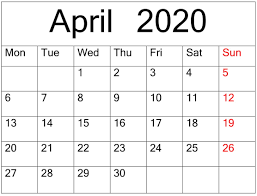 April 2020 Calendar Printable Planner Latest Printable