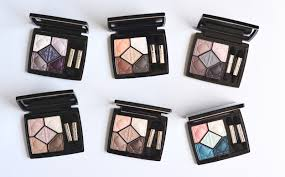 dior 5 couleurs eyeshadow quints embrace electrify magnify touch dream undress matte satin review swatches photos