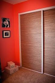 fabric closet doors grass cloth covered doors sliding fabric closet doors