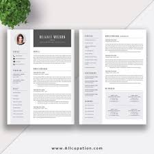 Two Page Cover Letters Creative Resume Template Modern Cv Word Cover Letter Two Page