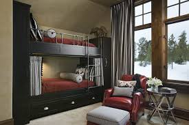 Contemporary Kids Bedroom with Custom built-in bunk beds and storage, Bunk  beds,