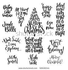 Christmas Quotes Extraordinary Set Handwritten Christmas Quotes Wishes Modern StockVektorgrafik