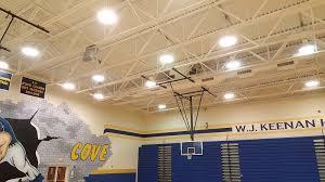 metal halide lighting school gymnasium before