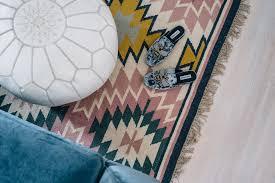 jess ann kirby steve madden bee velvet slides lulu and georgia painted desert rug