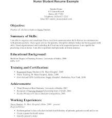 Nursing Student Resume Examples Adorable Nursing Objective Resume Registered Nurse Student Resume Nursing