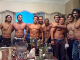 Salman Khan And Sohail Khan With Their Friends In Private Party
