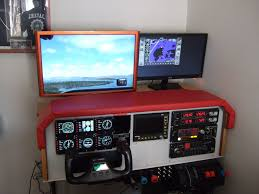 picture of diy flight simulator cockpit