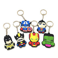 <b>1Pcs</b> Trendy Cute <b>Cartoon PVC</b> Iron Man Key Holder <b>Anime</b> Key ...
