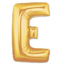 Jumbo Foil Gold 40 inch Letter E Balloon