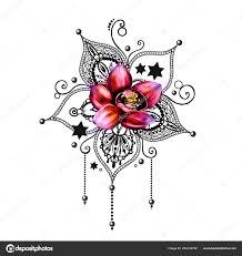 татуировка мандалы стоковое фото Shekaka 253144790