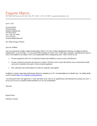 office manager cover letter example sample cover letter for office job