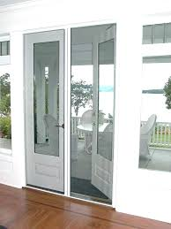 french door with screen roll up patio screens for doors away rolling kit andersen replace french door