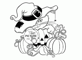 Small Picture Cute Halloween Cat and Pumpkin coloring pages for kids halloween