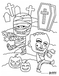 Choose your favorite coloring pages, print and supply your kids with cool crayons or markers, then watch them color away. Free Halloween Coloring Pages For Kids Or For The Kid In You