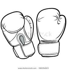 Amazing Boxing Gloves Coloring Pages For Boxing Gloves Coloring