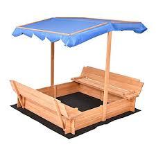 kidkraft outdoor sandbox with canopy 00165