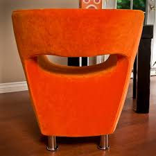 modern orange microfiber accent chair by christopher knight home free today com 13731508