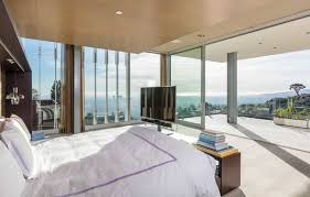 lighting ideas for bedroom ceilings. A Glass-enclosed Master Suite Is Equipped With Automatic Shades And Sliding Glass Doors To · The Bedroom Lighting Ideas For Ceilings I