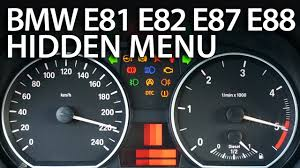 All BMW Models bmw 120d warning lights : BMW 1-Series hidden menu (E81, E82, E87, E88) - mr-fix.info