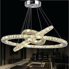 led light chandelier hanging round ring crystal chandelier fixture modern ceiling led light for loft led light chandelier