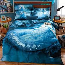 best blue bed sheets for girls 3d fairy princess blue bedding set for teens girls csodaszp