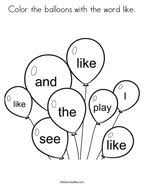 Pick your favorite color and start coloring! Sight Words Coloring Pages Twisty Noodle