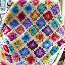 Granny Square Blanket Pattern Simple Rainbow Granny Square Blanket Haakmaarraaknl