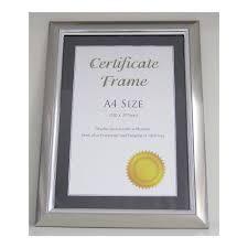 brooklyn certificate frame silver a4