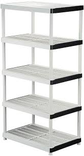 details about 5 shelf plastic ventilated storage shelving unit 72 in h x 36 in w x 24 in d