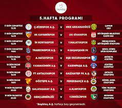 Süper Lig 5-8. hafta programları açıklandı - Süper Lig Haberleri TFF