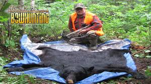 skinning black bear for a rug in the field how skin bear in the woods see how you