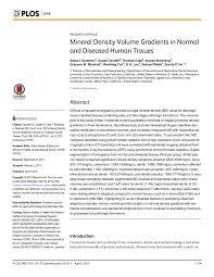 Pdf Mineral Density Volume Gradients In Normal And Diseased